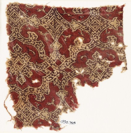 Textile fragment with elaborate interlace