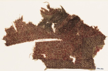 Textile fragment with rosettes and tendrils