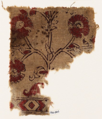Textile fragment with flower