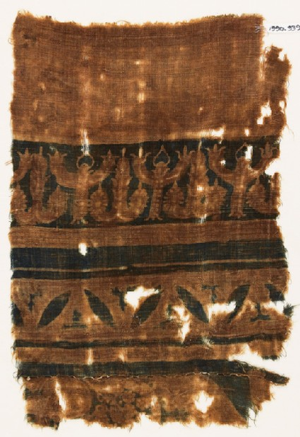 Textile fragment with stylized trees