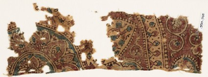 Textile fragment with part of a large medallion