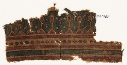 Textile fragment with pointed arches