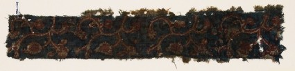Textile fragment with tendrils, flowers, and leaves
