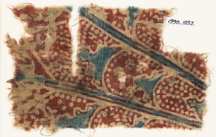 Textile fragment with overlapping petals