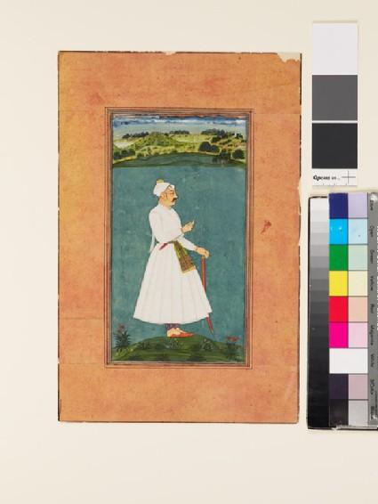 Sawai Jai Singh standing in a landscape