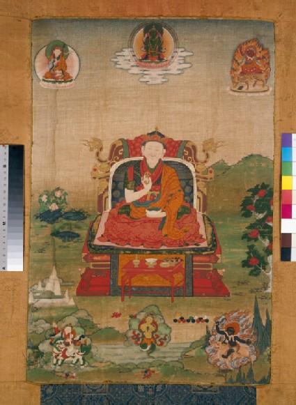 Enthroned grand lama of the Nyingmapa school