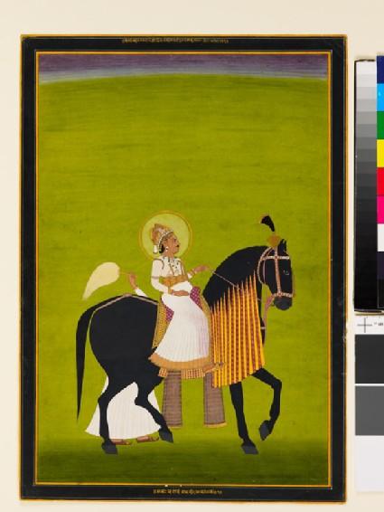 Maharaja Sawai Pratap Singh riding