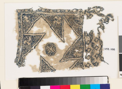 Textile fragment with large rosette and octagon