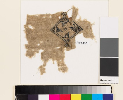 Textile fragment with rosette and diamond-shape