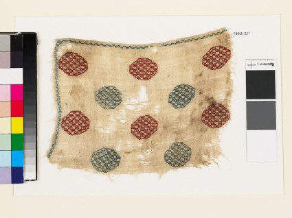 Textile fragment with octagons and squares