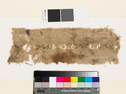 Textile fragment with diagonal interlace