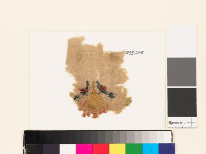 Textile fragment with pair of birds