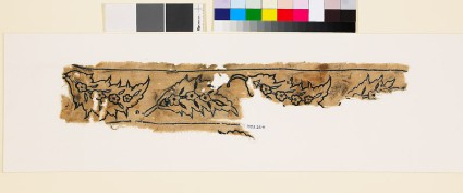 Textile fragment with saz leaves, flower-heads, and leaves