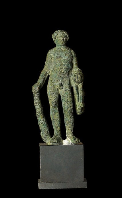 Figure of Heracles with lion-skin and club