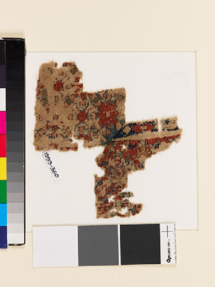 Textile fragment with floral pattern