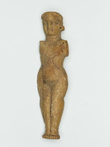 Female figure wearing jewellery