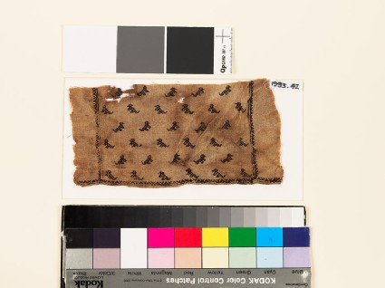 Textile fragment from a child's tunic with stylized animals