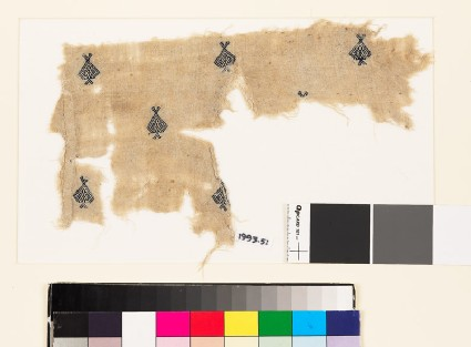 Textile fragment with diamond-shaped medallions and palmettes