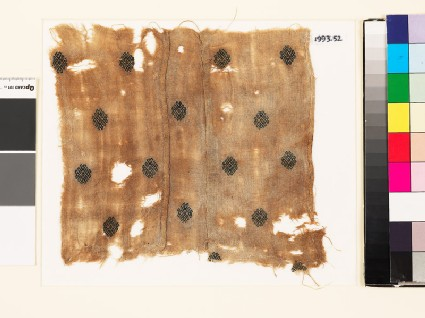 Textile fragment with stylized rosettes