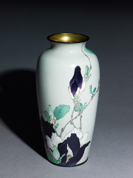 Baluster vase with magnolias