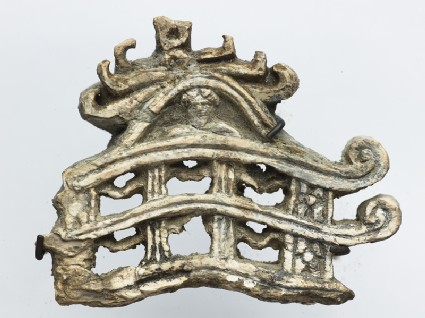 Fragment of a model torana, or gateway to a stupa