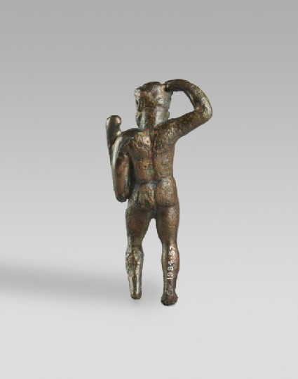 Figure of Heracles crowning himself