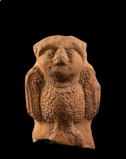 Toy cart fragment in the shape of an owl