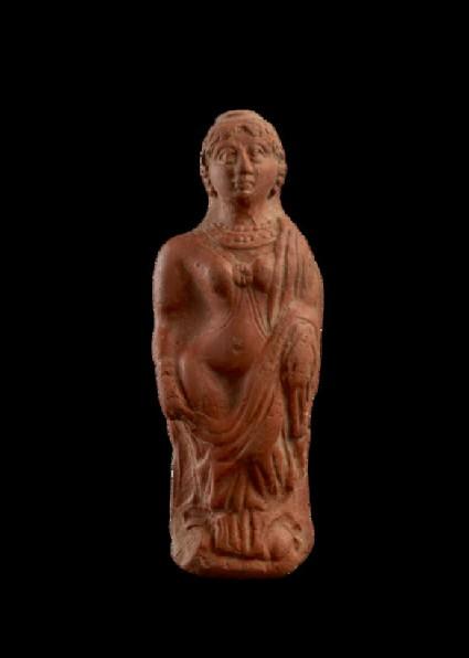 Plaque with semi-draped female figure