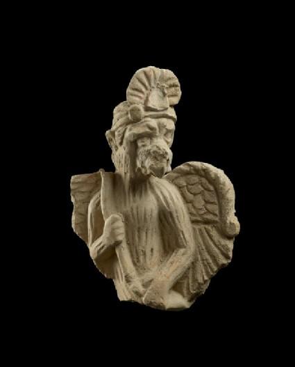 Fragmentary man-bird figure