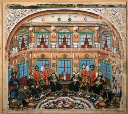 Rajput noblemen in an interior
