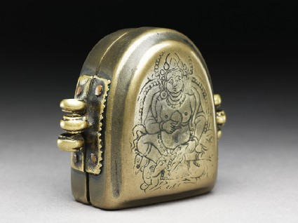 Amulet box with Jambhala, god of plenty