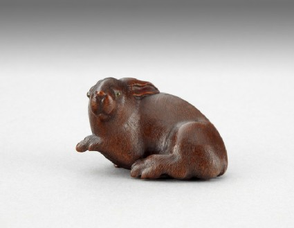 Netsuke in the form of a rabbit
