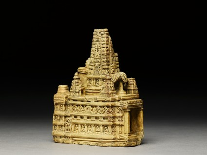 Stone model of the Mahabodhi temple