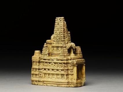 Stone model of the Mahabodhi temple