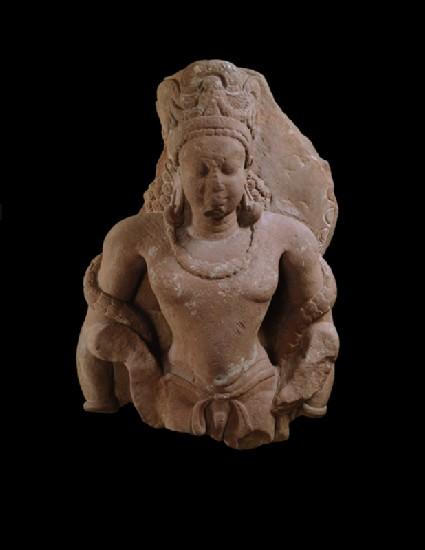 Fragmentary standing figure of Vishnu