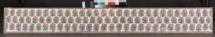Shawl border fragment with buta pattern