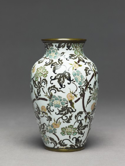 Baluster vase with stylized flowers
