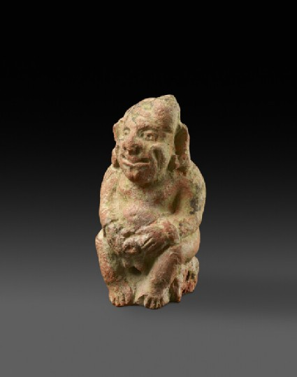 Figure of a seated male dwarf, possibly a gana or yaksha