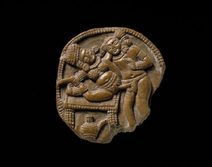 Plaque depicting a couple making love, or mithuna