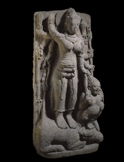 Figure of eight-armed Durga slaying the Buffalo-demon