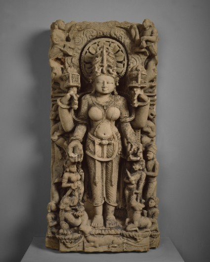 Stele with the goddess Gauri or Siddha