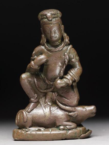 Figure of Yama, god of death on his buffalo