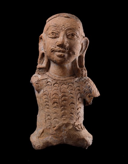 Bust figure of a warrior