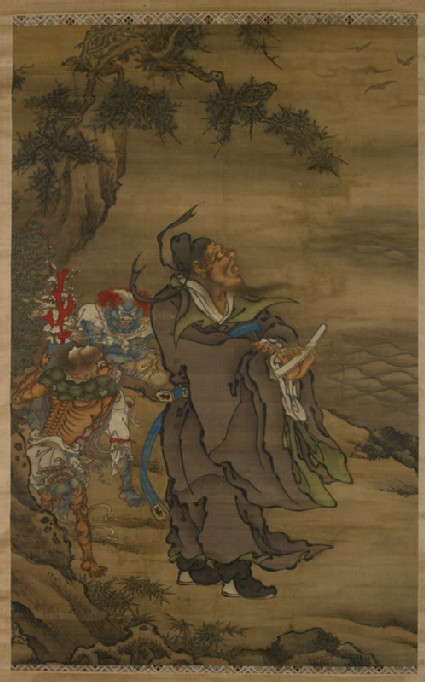 Zhong Kui the Demon Queller with Five Bats