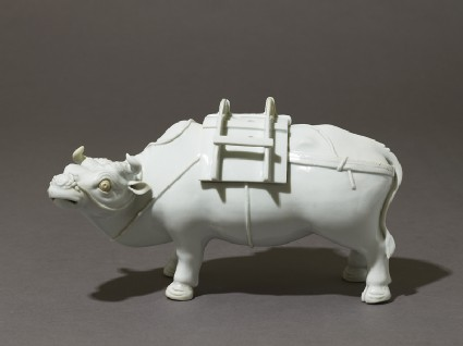 Incense burner, or kōro, in the form of an ox