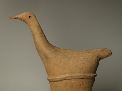 Haniwa figure of a long-necked bird