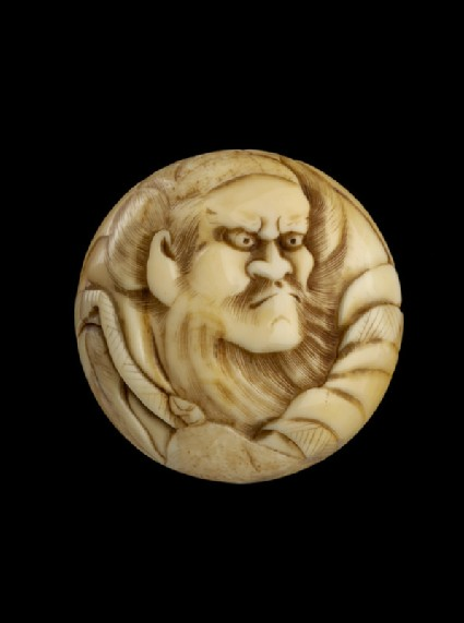Manjū netsuke depicting Shōki, the demon queller