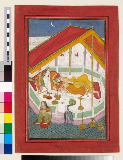 Lovers sleeping on a terrace