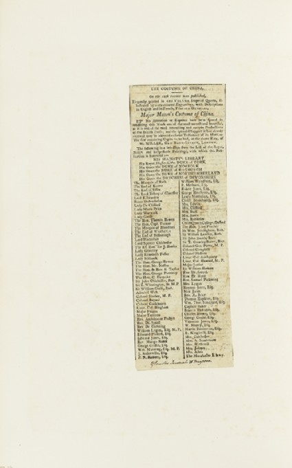 Newspaper cutting from the Gloucester Journal