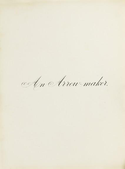 An Arrow-Maker